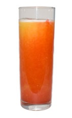 Sloe Sunrise - The Sloe Sunrise drink is made from rum, sloe gin and pineapple jucie, and served in a chilled collins glass.