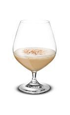 Spiced Nog - The Spiced Nog is a great variation of the classic eggnog. This is made from Baileys Irish Cream, Captain Morgans spiced rum, egg and nutmeg, and served in a chilled brandy snifter.