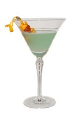 Spring Romance Cocktail - The Spring Romance cocktail is a wonderful blend of Cointreau orange liqueur and Hpnotiq Liqueur, and served in a chilled cocktail glass.