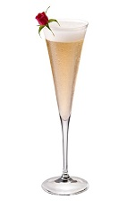 Starry Night - The Starry Night drink is made from Chambord vodka, elderflower liqueur, lime juice and champagne, and served in a chilled champagne flute.
