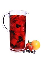 Superfruit Sangria Pitcher - The Superfruit Sangria Pitcher is made from VeeV acai spirit, red wine, pomegranate juice and cranberry juice, and served in a pitcher. This recipe makes 6 servings.