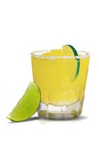 The Cuervo Margarita - The Cuervo Margarita drink is made from Jose Cuervo silver tequila, lime margarita mix and ice, and served in an old-fashioned glass.