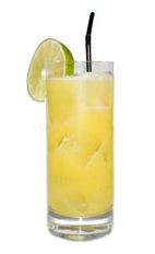 Twilight Coco - The Twilight Coco drink is made from light rum, Malibu coconut rum and pineapple juice, and served in a highball glass.
