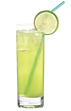 Aloa Vera - The Aloa Vera drink is made from citrus vodka (aka Absolut Citron), Midori Melon Liqueur, sweet & sour mix, Roses Lime and lemon-lime soda, and served in a highball glass.