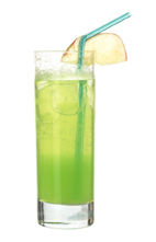 Aloe Vera - The Aloe Vera drink is made from citrus vodka (aka Absolut Citron), Midor Melon Liqueur, sweet & sour mix, Roses lime and lemon-lime soda, and served in a highball glass.