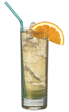 American Dream - The American Dream drink is made from bourbon, Sourz Apple and lemon-lime soda, and served in a highball glass.