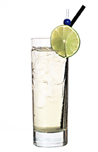 Apple Roses - The Apple Roses drink is made from vodka, cognac, Sourz Apple, Roses Lime, lemon-lime soda and ginger ale, and served in a highball glass.