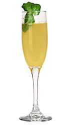 Bucks Fizz - The Bucks Fizz drink is made from champagne and fresh orange juice, and served in a champagne flute.