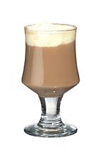 Baileys Coffee - The Baileys Coffee drink is made from Baileys Irish Cream, hot coffee and whipped cream, and served in a wine glass or an Irish coffee glass.