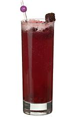 Blackberry softdrink - The non-alcoholic Blackberry Softdrink is made from blackberries, sugar, lemon juice and lemon-lime soda, and served in a highball glass.