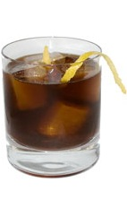 Black Jack - The Black Jack drink is made from Brandy, Cherry Brandy and cold black coffee, and served in an old-fashioned glass.