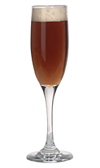 Black Velvet - The Black Velvet drink is made from Guiness (or other dark stout) and champagne, and served in a champagne flute.