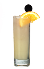 No Fear - The No Fear drink is made from Absolut Citron, grapefruit jucie and Schweppes Russian, and served in a highball glass.