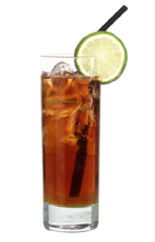 Bull Hunter - The Bull Hunter drink is made from Jaegermeister and Red Bull, and served in a highball glass.
