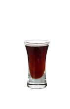 Fire Engine - The Fire Engine shot is made from Jaegermeister and raspberry soda, and served in a shot glass.