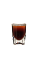 Calypso - The Calypso shot is made from dark rum and dark creme de cacao, and served in a shot glass.