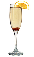 Champagne Cocktail - The Champagne Cocktail is made from cognac, champagne, Angostura Bitters and a sugar cube, and served in a champagne flute.