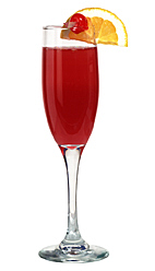 Pick-me-up - The Pick-me-up drink is made from cognac, orange juice, grenadine and champagne, and served in a champagne flute.