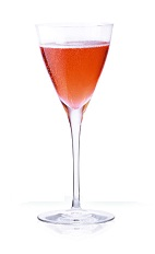 Champs-Élysées - The Champs-Élysées drink is made from Cointreau, strawberry liqueur and champagne, and served in a champagne flute.