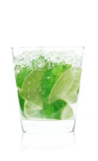 Cointreau Caipirinha - The Cointreau Caipirinha drink is made with Cointreau and lime wedges, and served in an old-fashioned glass. Note that a typical caipirinha requires sugar, but the Cointreau is sweet enough, so none is needed.