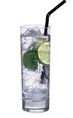 Cointreau Tonic - The Cointreau Tonic drink is made from Cointreau, tonic water and lime wedges, and served in a highball glass.