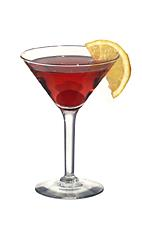 Picture of Cosmopolitan. The Cosmopolitan cocktail is made from citrus vodka (aka Absolut Citron), Cointreau, cranberry juice and lemon juice, and served in a cocktail glass.