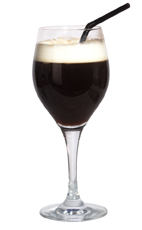 Cafe de Cuba - The Cafe de Cuba drink is made from dark rum, creme de cacao, hot coffee and light cream, and served in a wine glass or an Irish coffee glass.
