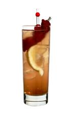 D: Razz - The D: Razz drink is made from Bacardi Razz, raspberries, lemon sour and lemon-lime soda, and served in a highball glass.