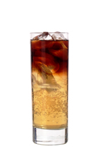 Dark Angel - The Dark Angel drink is made from black vodka, Jaegermeister and Red Bull, and served in a highball glass.