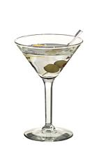 Dry Martini - The Dry Martini cocktail is made from dry gin and dry vermouth, and served in a cocktail glass.