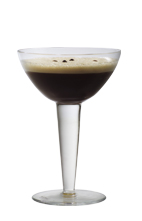 Espresso Martini - The Espresso Martini cocktail is made from vodka, coffee liqueur, espresso and sugar syrup, and served in a cocktail glass.