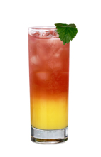 Sly Dog - The Sly Dog drink is made from gin, vodka, orange juice and red soda, and served in a highball glass.