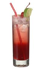 Freja - The Freja drink is made from cranberry vodka, Cointreau and cranberry juice, and served in a highball glass.