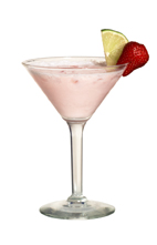 The frozen rose cocktail is made from tequila rose liqueur for What to mix with tequila rose