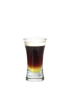 Galliano Hot Shot - The Galliano Hot Shot is made from Galliano, coffee and whipped cream, and served layered in a shot glass.