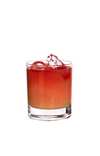 Giribaldi - The Giribaldi drink is made from Campari and orange juice, and served in an old-fashioned glass.