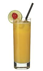 Grapefruit Blast - The Grapefruit Blast non-alcoholic drink is made from grapefruit juice, orange juice and sour mix, and served in a highball glass.