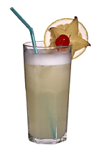Greyhound - The Greyhound drink is made from vodka, grapefruit juice and egg white, and served in a highball glass.