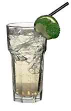 Green Apple - The Green Apple drink is made from lime vodka, Sourz Apple and lemon-lime soda, and served in a highball glass.