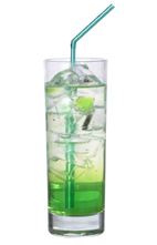 Green Dessert - The Green Dessert drink is made from Midori Melon Liqueur, vodka and lemon-lime soda, and served in a highball glass.