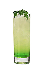 Green Meadow - The Green Meadow drink is made from vodka, Midori Melon Liqueur and bitter lemon, and served in a highball glass.