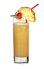 Hallululo - The Hallululo drink is made from gin, apricot brandy, orange juice and pineapple juice,a nd served in a highball glass.