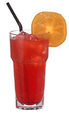 Hashibashi - The Hashibashi drink is made from vodka, Campari and bitter lemon, and served in a highball glass.