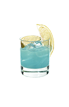 Hpnotiq Chill - The Hpnotiq Chill drink is made from Hpnotiq and a squeeze of lemon, and served in an old-fashioned glass.