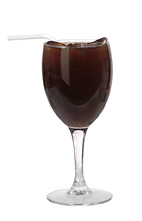 Whisky Ice Coffee - The Whisky Ice Coffee drink is made from whiskey and hot coffee, and served in a wine glass or an Irish coffee glass.