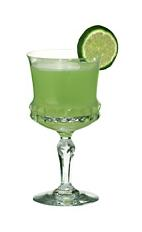 Japanese Slipper - The Japanese Slipper cocktail is made from Cointreau, Midori and lime juice, and served in a cocktail glass.