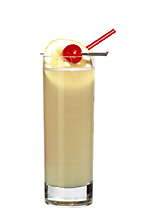 Joline - The Joline drink is made from light rum, Cointreau, sour mix, pineapple juice and bitter lemon, and served in a highball glass.