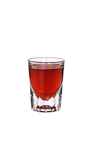 King of Denmark - The King of Denmark shot is made from sambuca, Campari and Gammel Danks (bitters), and served in a shot glass.