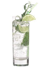 Limetto Limonade - The Limetto Limonade drink is made from vodka, Cinzano Limetto, lemon-lime soda and lime wedges, and served in a highball glass.
