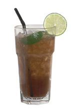 Long Island Ice Tea - The Long Island Ice Tea drink is made from vodka, gin, rum, tequila, cointreau, lemon juice and cola, and served in a highball glass.